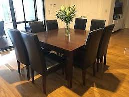 Dining Table With 8 Chairs And Matching Cabinet