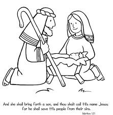 Birth Of Jesus Coloring Page