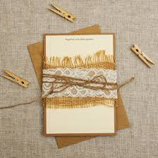 Burlap Lace And Twine Wrapped Wedding Invitations Cream Rustic Invitation