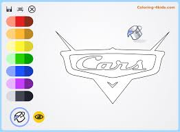 Cars Movie Logo Coloring Pages Online