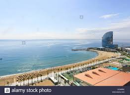 100 W Hotel In Barcelona Spain Beach Of La Barceloneta And Stock Photo