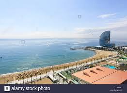 100 W Hotel Barcelona Beach Of La Barceloneta And Spain Stock