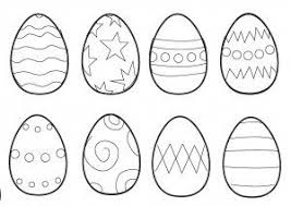 Easter Colouring Pages Small Eggs