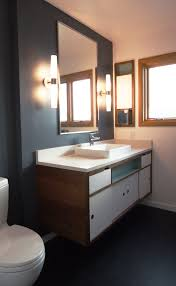 bathroom remodel brings a twist on mid century to dolph park home