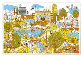 premium poster berlin wimmelbild im zoo