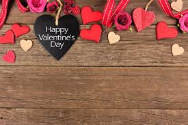 Download Happy Valentines Day Heart Shaped Chalkboard Tag With Border Against Rustic Wood Stock Photo