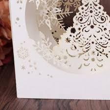Online Shop 1 Pcs Handmade Merry Christmas Greeting Card 3D Pop Up Tree Box Snowflake Craft Holiday Invitation Gift