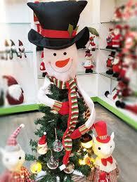 Fancy Hat Snowman Christmas Tree Decoration