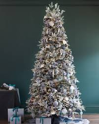 Flocking Christmas Tree Kit by Frosted Fraser Fir Narrow Artificial Christmas Tree Balsam Hill