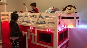 100 Fire Truck Loft Bed Little Boy Is Delighted By His New YouTube
