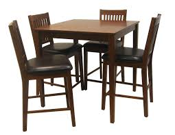 Traditional Kitchen Furniture Design With Mission Style Chairs Set