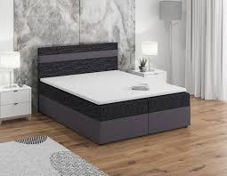 boxspringbett schlafzimmerbett invern 180x200cm grau schwarz