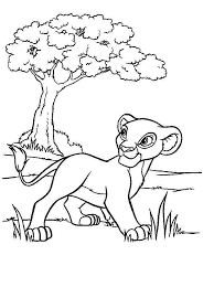 Lion King Free Fun Cartoon Coloring Pages