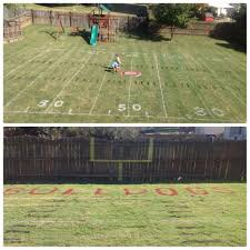 I Would LOVE To Have A Mini Football Field In My Backyard ... 2017 Nfl Rulebook Football Operations Design A Soccer Field Take Closer Look At The With This Diagram 25 Unique Field Ideas On Pinterest Haha Sport Football End Zone Wikipedia Man Builds Minifootball Stadium In Grandsons Front Yard So They How To Make Table Runner Markings Fonts In Use Tulsa Turf Cool Play Installation Youtube 12 Best Make Right Call Images Delicious Food Selfguided Tour Attstadium Diy Table Cover College Tailgate Party