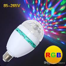 led stage light bulb e27 3w ac 85 265v rgb laser light auto