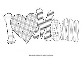 You MOM Pleasant Design I Love My Mommy Coloring Pages Mom Colouring Page