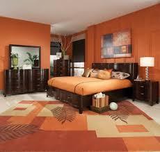 Stunning Orange Bedroom Designs Ideas Decorating With Dark Brown Modern 2017 4