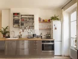 cuisines inox après blanc bois clair et inox cuisine inox
