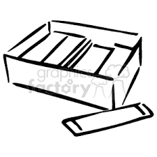 A black and white box of chewing gum