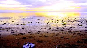 Sunrise Beach Sea Morning Sandal One Fine Nature Wallpaper