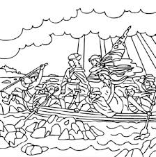 George Washington Crossing The Delaware River Free Printable Coloring And Activity Sheets Click To