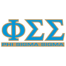 Greek Store Phi Sigma Sigma Letters Over Name Decal Greek Clothing