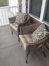 Chalk painted wicker chairs Annie Sloan Chalk Paint Coco Second