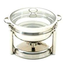 Chafing Dish Round 4 Qt With Glass Lid Electric Bed Bath
