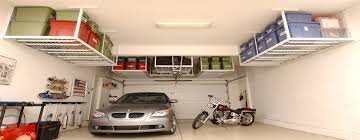 garage storage for wasted ceiling space with tuffrax racks