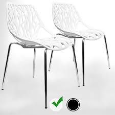 100 Birch Dining Chairs Modern Set Of 2 By Urbanmod White Kidfriendly