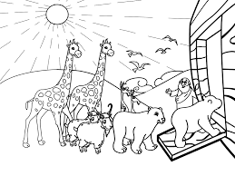 Coloring Page Noahs Ark Pages Rainbow