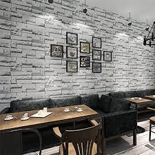 kinlo tapeten stein 3d 10m x 0 53m dunkle grau top steintapete vlies modern fürschlafzimmer wohnzimmer küche tapeten stein effekt wandsticker stein