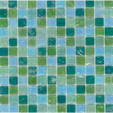 elida ceramica 12 in x 12 in mint glass mosaic square wall