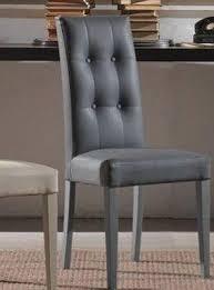 chaise simili cuir gris lot de 2 chaises design italienne four seasons en tissu enduit