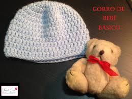 Gorro básico bebé en crochet o ganchillo Toturial Paso a paso