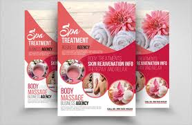 Spa Flyer Design 23 Flyers Free Psd Ai Eps Format Download Templates