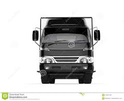 Small Black Box Truck - Front View Stock Illustration - Illustration ...
