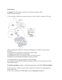 Where Does Seafloor Spreading Take Place by Earth Science Review Packet
