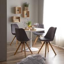 schalenstuhl stege samt grau esszimmer möbel stühle