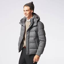 men stretch wool blended down jacket uniqlo us