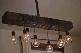 wood beam chandelier amazon com