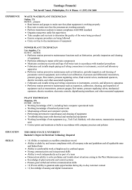 Download Plant Technician Resume Sample As Image File