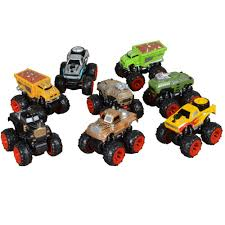 100 Big Truck Toys 4WD Inertia Hot Wheel Colorful Foot Gift