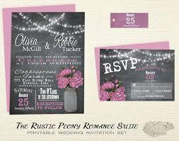 Backyard Wedding Invitations Bracket Reception Invitation Wording