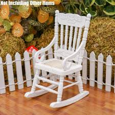 US $8.54 30% OFF Odoria 1:12 Miniature White Wooden Rocking Chair Dollhouse  Furniture Accessories Decor Gift-in Furniture Toys From Toys & Hobbies On  ... Front Porch Of House With White Rocking Chairs On Wooden Two Wood Rocking Chair Isolate Is On White Background With Indoor Chairs Grey Wooden Northbeam Acacia Outdoor Stock Image Yellow Fniture Club By Trex In Photo Free Trial Bigstock Small Old Toy Edit Now Karlory Porch Rocker 100 Pure Natural Solid Deck Patio Backyard Living Room Black Isolated