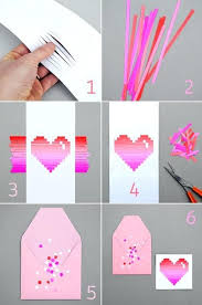 Cute Paper Crafts Heart Card Love Girl Pretty Within For