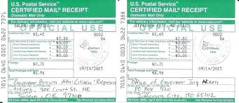Cost Certified Mail Return Receipt 9 Domestic Special Services O