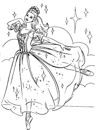 Ballerina Coloring Pages Barbie