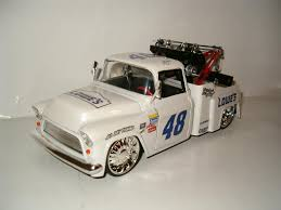 JIMMIE JOHNSON NASCAR LOWES RACING 1955 CHEVY TOW TRUCK 1/24 DIECAST ...