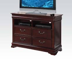 Baby Cache Heritage Dresser Cherry by Acme Gwyneth Traditional Four Drawer Home Entertainment Tv Console